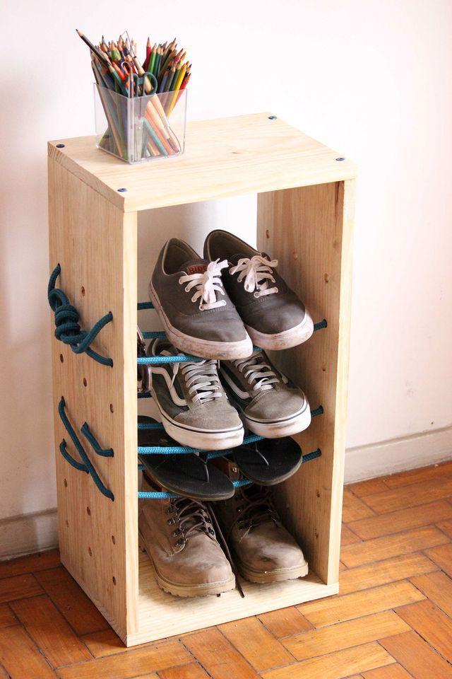 Обувница из дерева своими руками фото 26